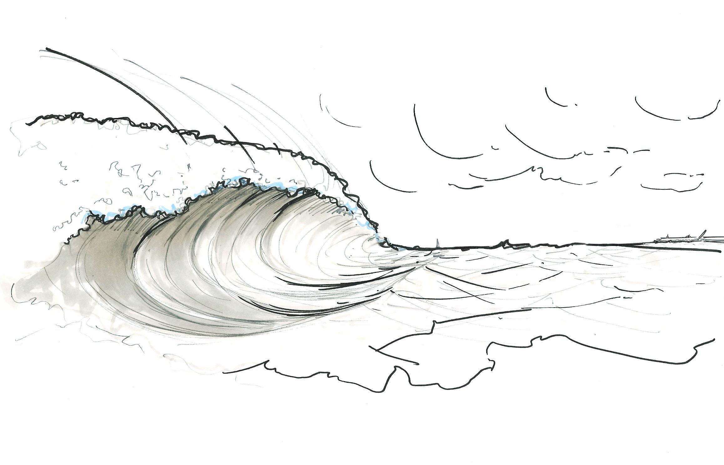 Wave illustration - France Energies Marines