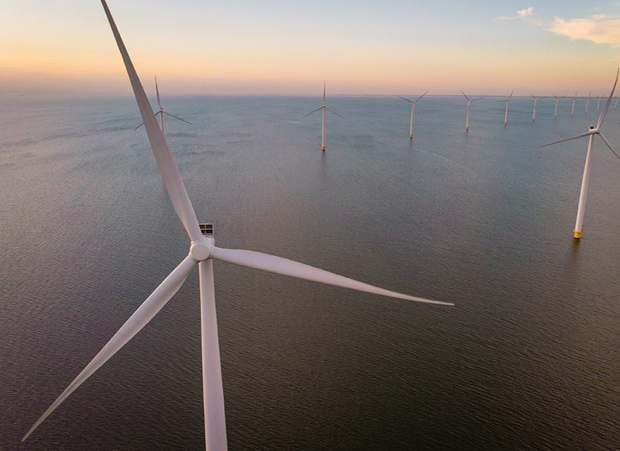Windmill Farm Drone View From Above During Sunset, Windmill Park