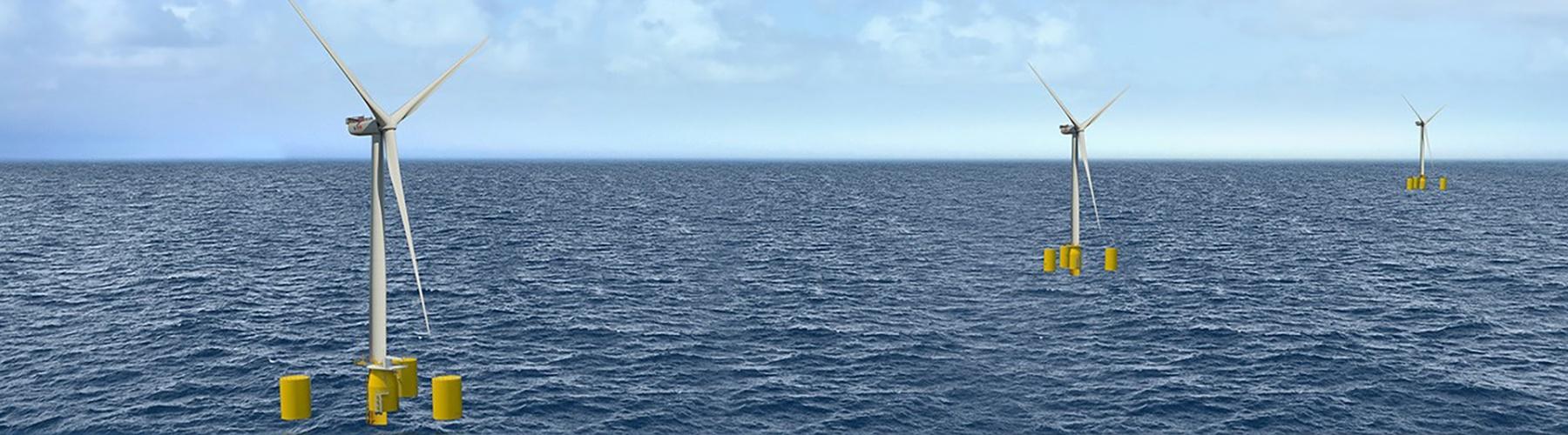 Ferme d'éoliennes flottantes